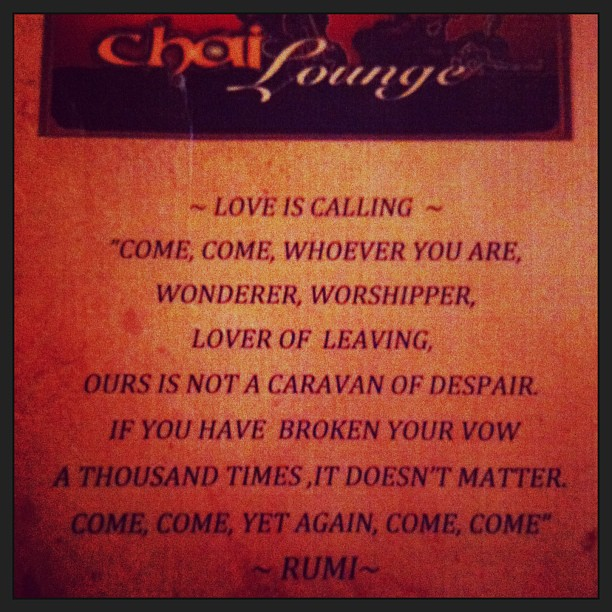 rumi and me ... the lover of leaving